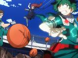 Izuku Midoriya, Ochaco Uraraka & Hanta Sero vs. Hero Academy Students