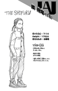 Volume 21 Hiryu Rin Profile