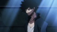 Dabi speaks to the other villains