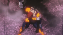 Endeavor stands victorious (Anime)