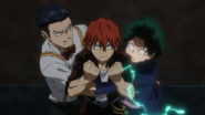 Izuku, Eijiro and Tenya ready to rescue Katsuki