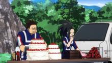 Momo and Rikido training