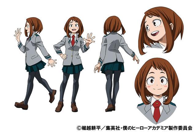 Ochaco Uraraka School Uniform TV Animation Design Sheet
