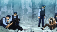 Shin Nemoto and Deidoro being arrested