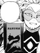 Hawks persuading Endeavor to read Meta Liberation War