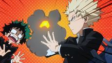 Katsuki quema el cuaderno de Izuku