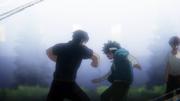 Tenya punches Izuku
