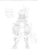 Katsuki Bakugo Hero Costume Sketch