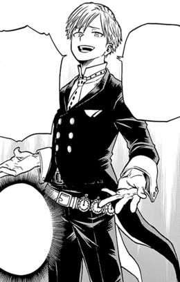 Neito Monoma traje de héroe manga