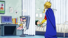 Recovery Girl berates All Might