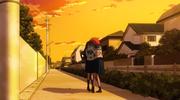 Tsuyu Asui and Habuko Mongoose hug