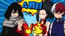 Shoto y Momo vs Aizawa