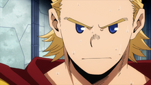 Mirio Togata confronts Overhaul (Anime)