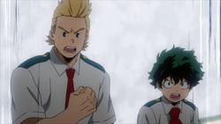 Mirio et Izuku en colère Épisode 69