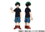 Izuku Midoriya Casual TV Animation Design Sheet