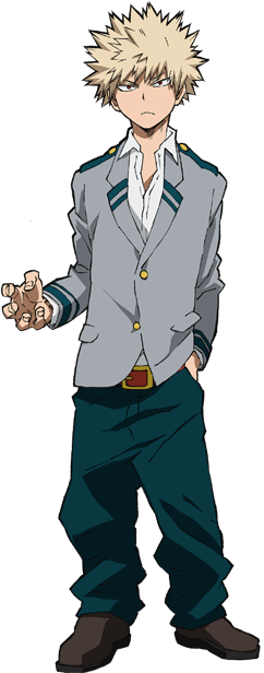 Katsuki Bakugo School Uniform Full Body
