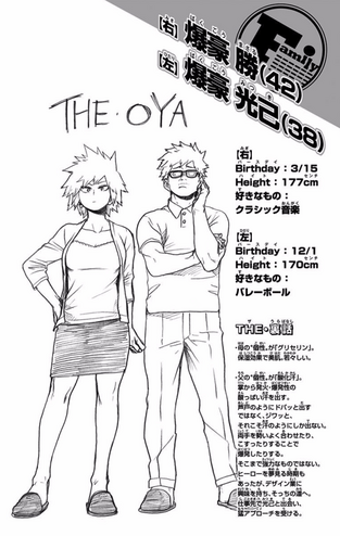 Volume 11 Masaru and Mitsuki Bakugo Profiles