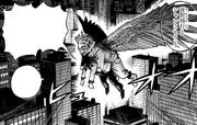 Hawks flies with Fumikage Tokoyami