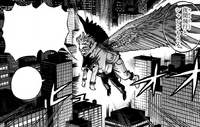 Hawks flies with Fumikage Tokoyami
