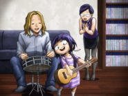 Child Kyoka with her parents