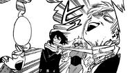 Shota Aizawa strangles Neito Monoma