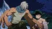 Mezo protects Izuku from Himiko