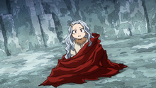 Eri wrapped with Mirio's cape