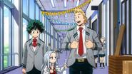 Izuku and Mirio showing Eri a tour of U.A