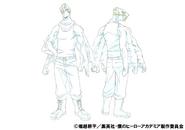 Mezo Shoji Casual Shading TV Animation Design Sheet