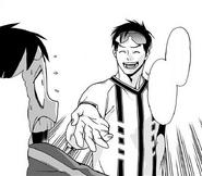 Tensei asks Koichi for his business card back