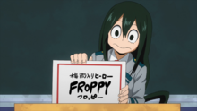 Tsuyu chooses Froppy as her hero name