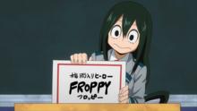 Tsuyu chooses Froppy as her hero name