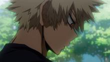 Katsuki luego de hablar con All Might