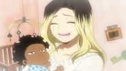 Ken Takagi's wife and son