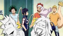 Kyoka punishes Denki and Yuga