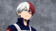 Shoto Todoroki watches Mirio