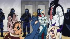 Equipo de la redada al escondite Anime