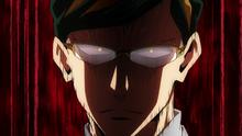 Nighteye enojado con Izuku