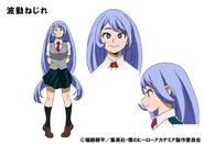 Nejire Hado TV Animation Design Sheet