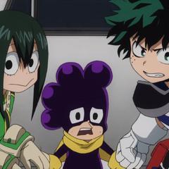 Deku, Tsuyu y Mineta determinados