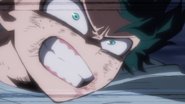 Izuku Midoriya's fierceness vs Katsuki