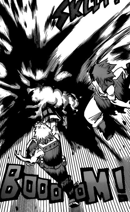 Katsuki and Eijiro attack Kurogiri