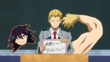 Mashirao chooses hero name