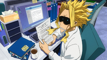 Toshinori at the U.A. Administration Office