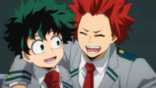 Izuku and Eijiro's friendship