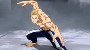 Mirio Togata's fighting stance