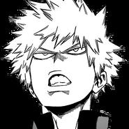 Katsuki determined face manga
