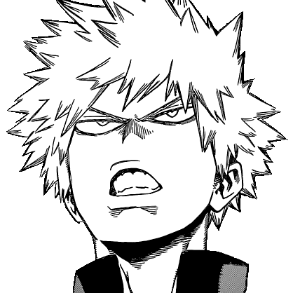 Katsuki determined face manga