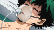 Izuku hospitalized
