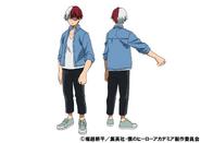 Shoto Todoroki Casual TV Animation Design Sheet